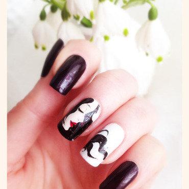 Snow White Manicure nail art by Bazavan Diana