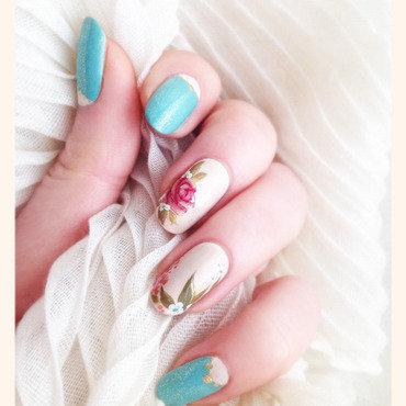 Vintage Manicure nail art by Bazavan Diana