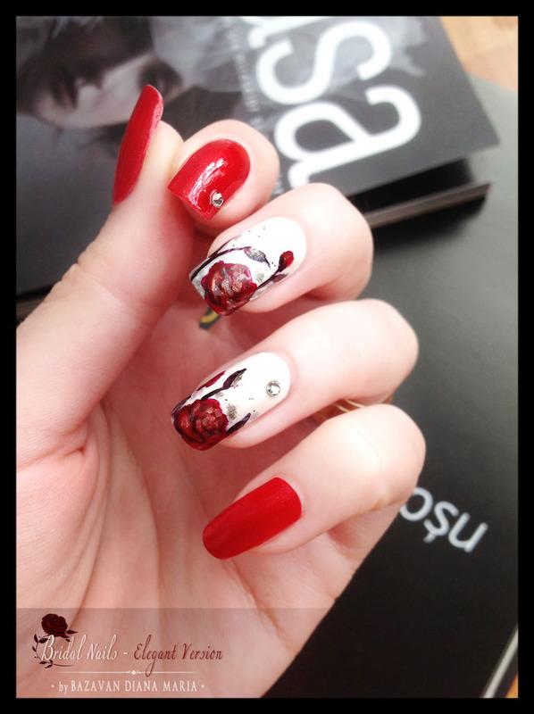 Roses Nail Art nail art by Bazavan Diana