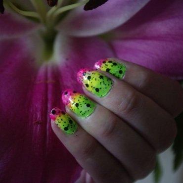neon party!  nail art by Azazella