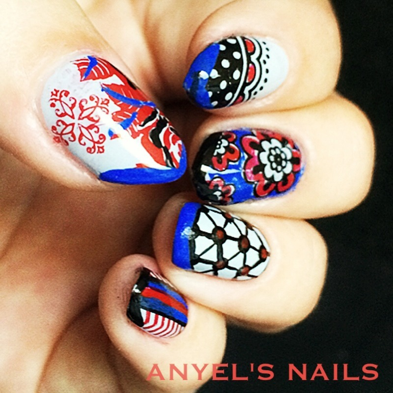 American freedom nail art by Anyelsnails