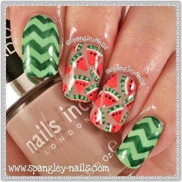 Watermelon Nail Art nail art by Nicole Louise