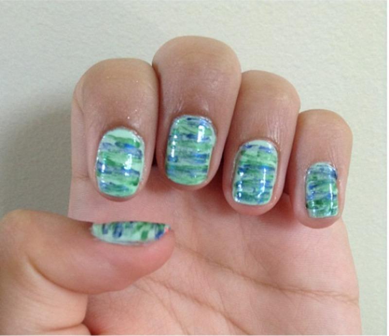 Seaweed Nails nail art by Dhara