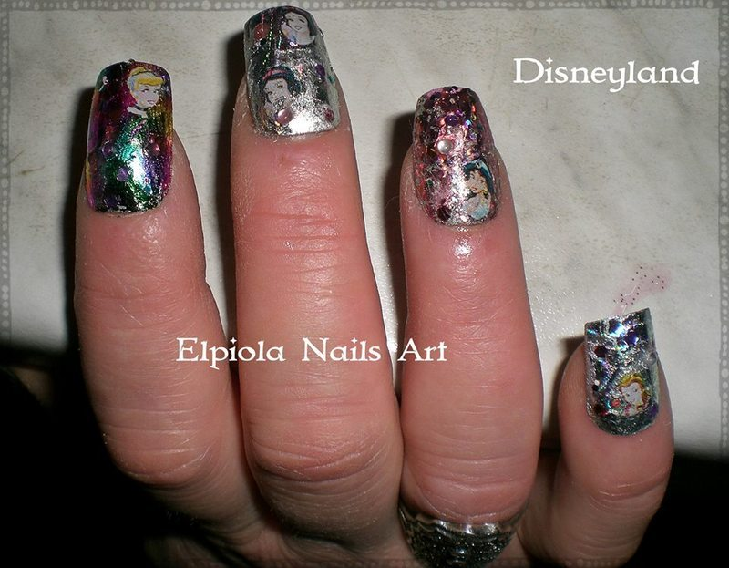 Disneyland Nail Art By Elpiola Lluka Nailpolis Museum Of Nail Art