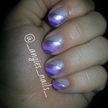 Rainbow of purple nail art by ANGELA MIRANDA