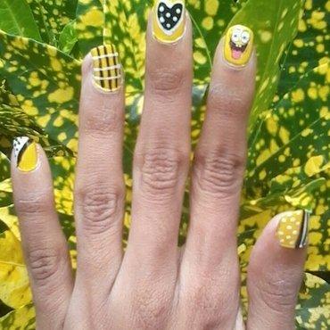 sponge bob nail art nail art by reena  dsa