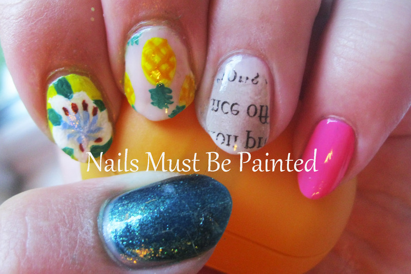50 First Dates nail art by Emily