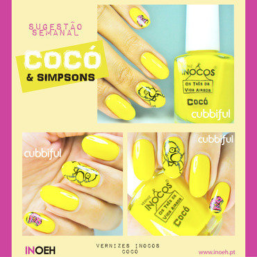 Homer says 'TGIF'! with Inocos nail art by Cubbiful