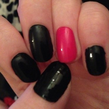 Black and Pink Nails by Kelly Greenwood