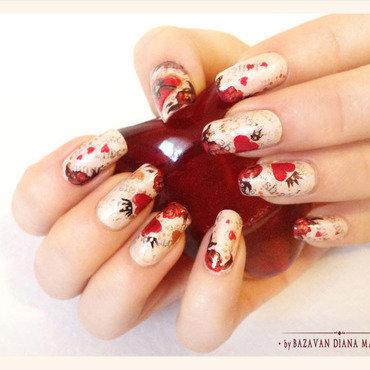 In Love nail art by Bazavan Diana