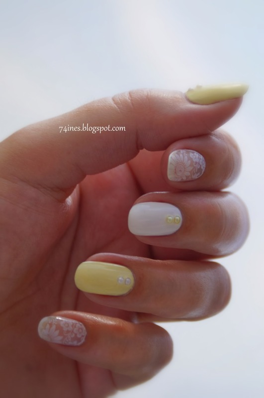 walking on sunshine nail art by 74ines