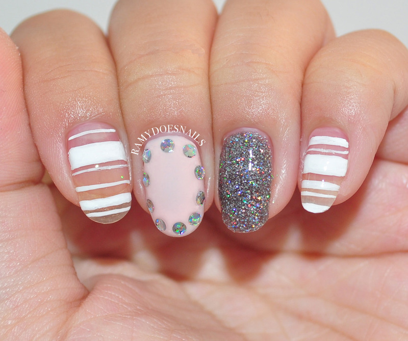 Party time, but still keeping' it classy nail art by Ramy Ang