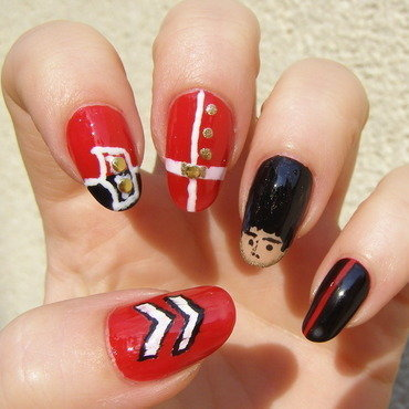 Royal Guard :) nail art by Szilvia