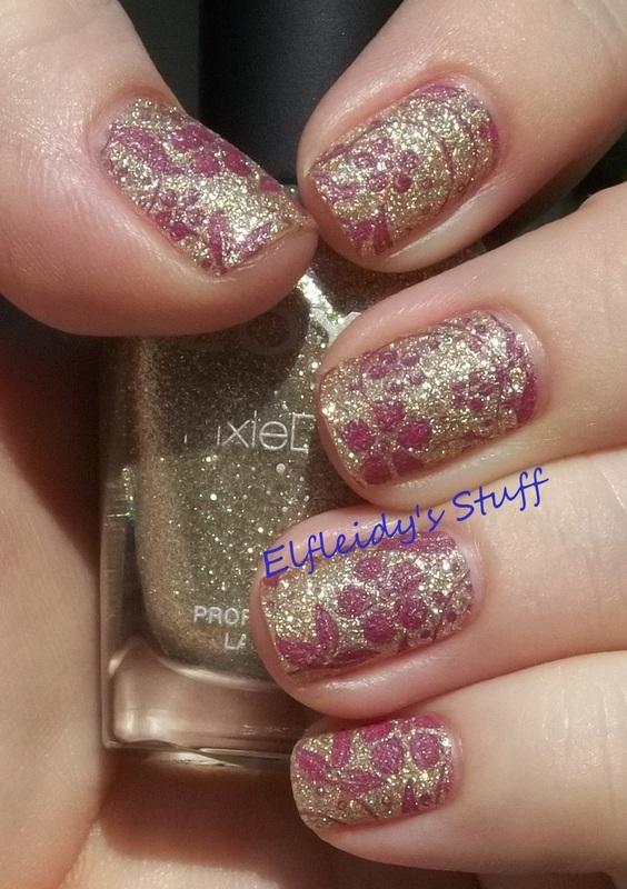 Textured stamping nail art by Jenette Maitland-Tomblin