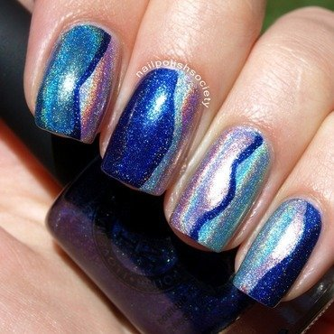 I Love Nail Polish Wavy Dimensions Nail Art nail art by Emiline Harris