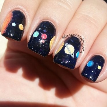 Solar System nail art by Jennifer Collins