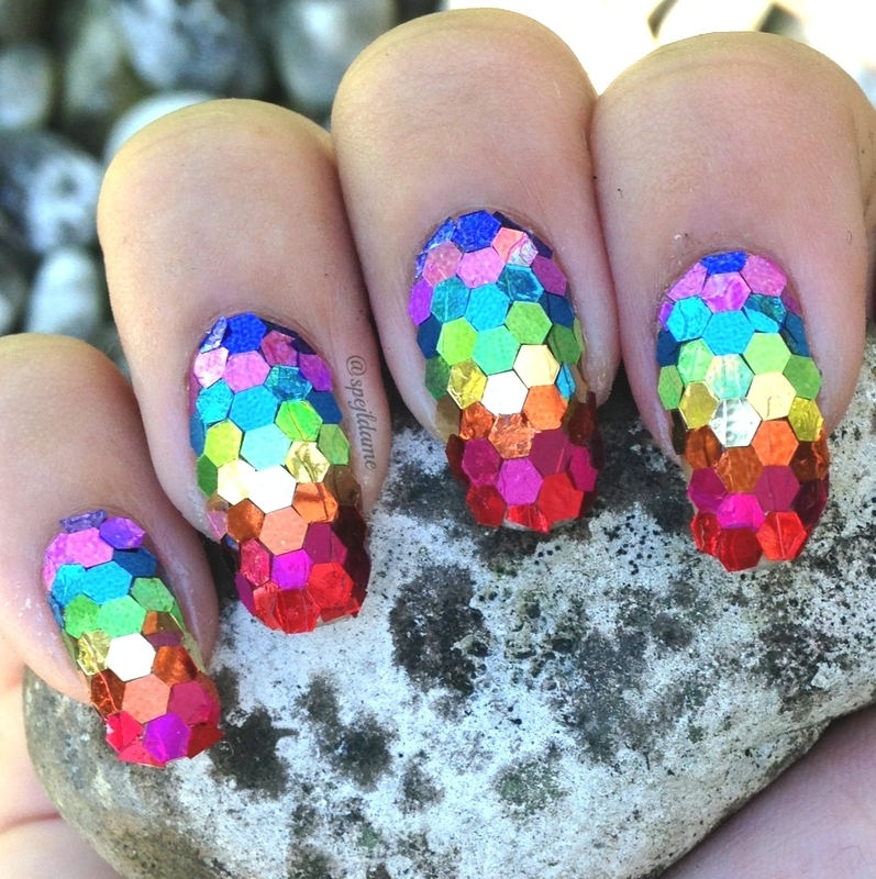 So Sparkly Rainbow! nail art by Sparkly Nails by Spejldame