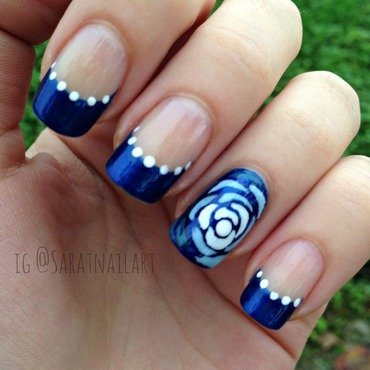 French&Roses nail art by Sara T