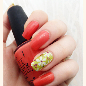 Happy florals nail art by Bazavan Diana