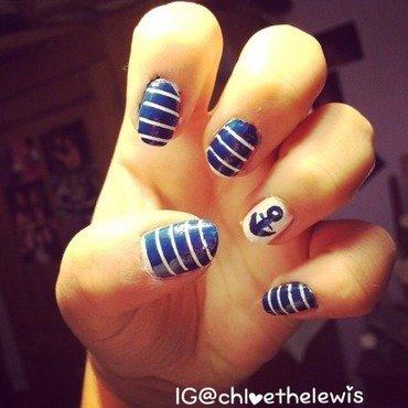 Sailor Nails nail art by Chloe Lewis