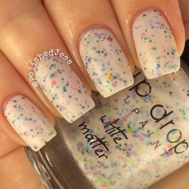 Drip Drop Nail Paint White Matter Swatch by PolishedJess