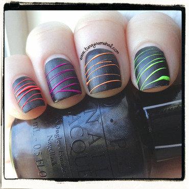 Neon Nail Party nail art by Sarah Lynn Bernardo