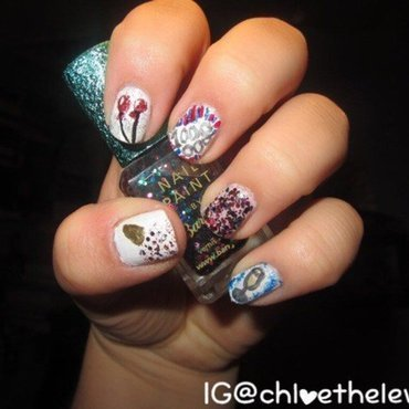 1,000,000 Facebook Fans Celebratory Nails nail art by Chloe Lewis
