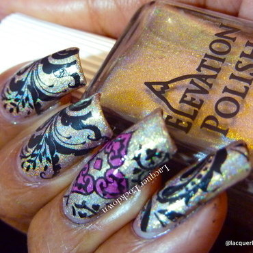 Floral Abstract nail art by Tamira (Lacquer Lockdown)