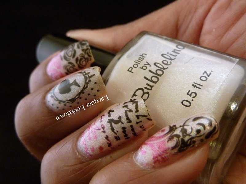 romantic love letter nail art by tamira lacquer lockdown