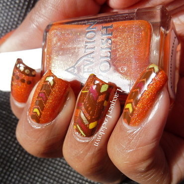 Fall Tribal nail art by Tamira (Lacquer Lockdown)