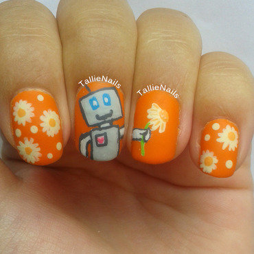 The Friendly Robot nail art by Tallie