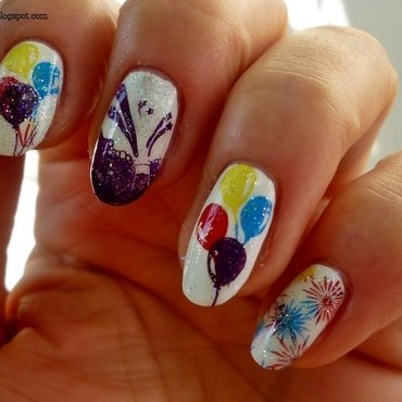 1,000,000 Facebook Fans Contest nail art by T. Andi