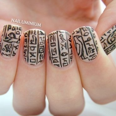 Sandy Egypt nail art by Margee C.