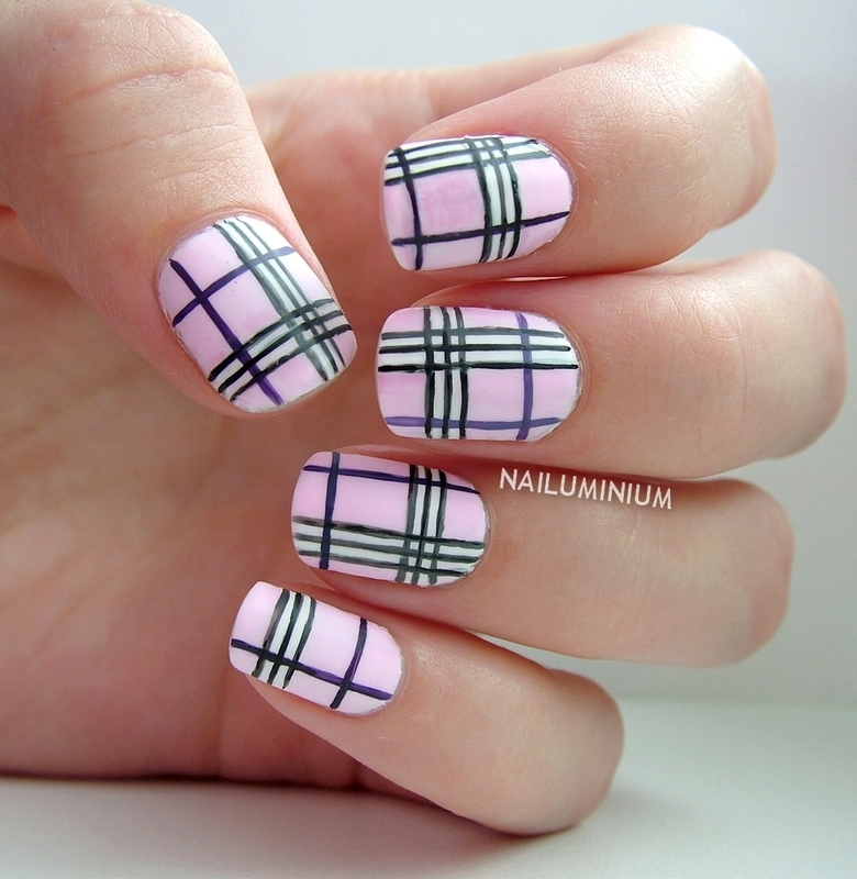 Burberry In Pink Nail Art By Margee C Nailpolis Museum Of Nail Art