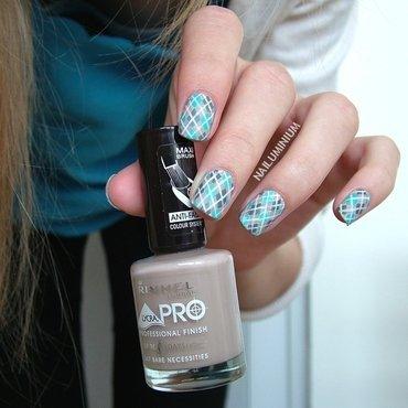 Argyle nail art by Margee C.