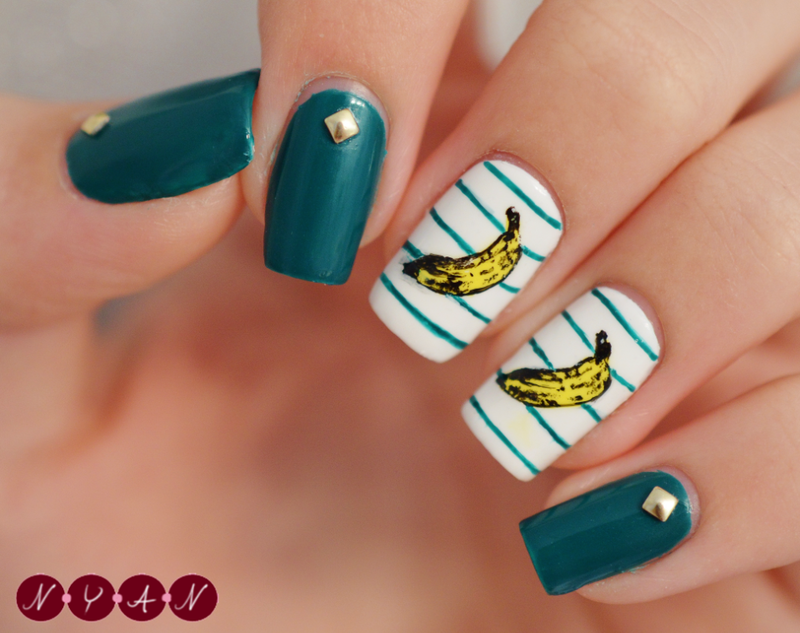 Going Bananas nail art by Becca (nyanails)