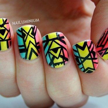 Neon tribal nails 20 1  thumb370f