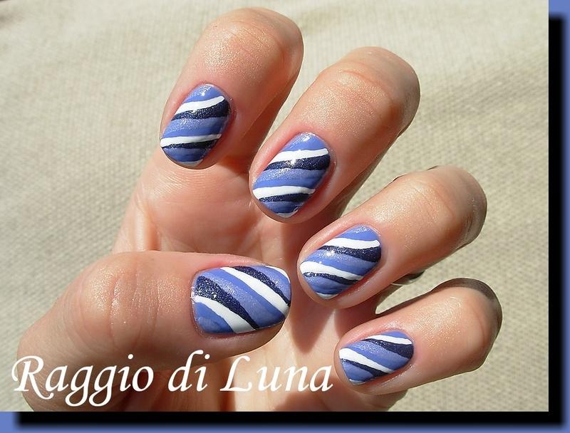 Purple waves nail art by Tanja