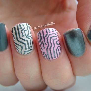 Digital Underground nail art by Margee C.