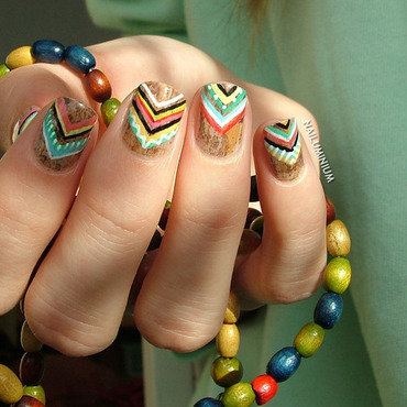 Tribal chevron nails 20 1  thumb370f