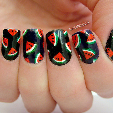 Watermelon nails 20 5  thumb370f
