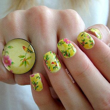 Birdie nail art by Margee C.