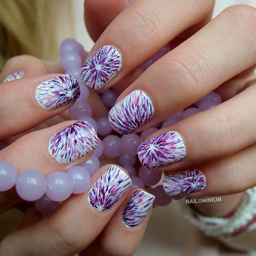Purple Distraction nail art by Margee C.