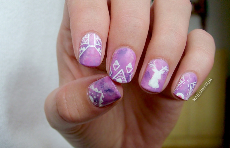 Hipster Nails nail art by Margee C.