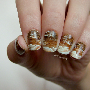 Landscape nail art by Margee C.