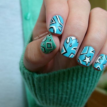 Pop Geometry nail art by Margee C.