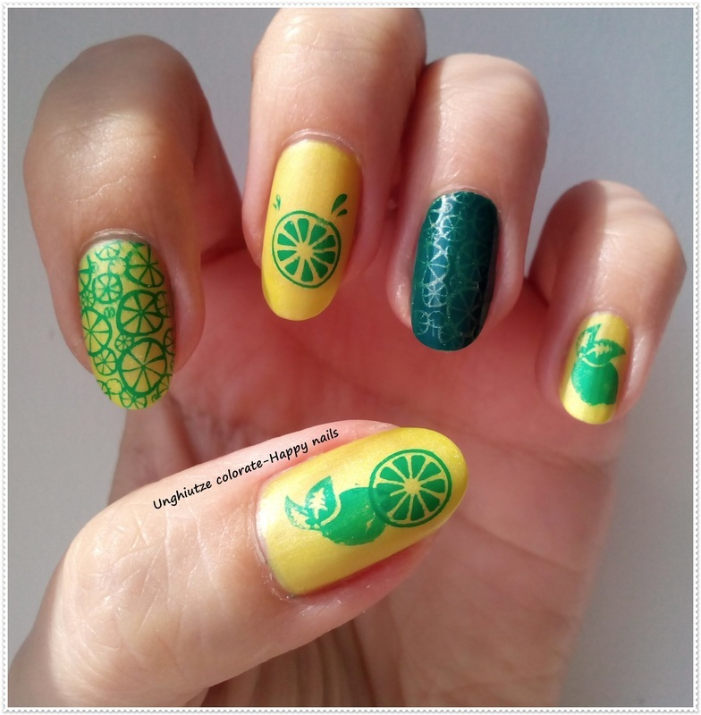 Mojito nail art by Oana  Alexandru
