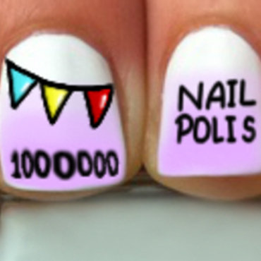 Celebrating 1 Million Fans of Nail Polis nail art by misha321