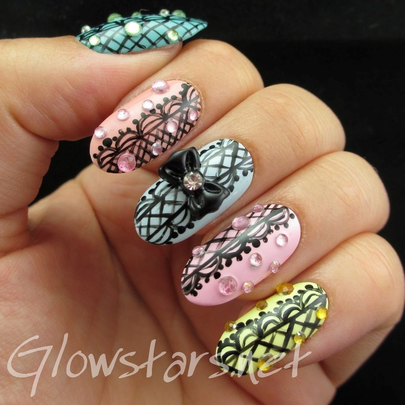 Nail Max Collections vol. 10 – design Colorful 139 nail art by Vic 'Glowstars' Pires