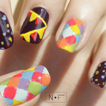 Celebration nail art! nail art by NerdyFleurty
